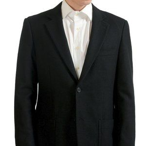 Kenneth Cole Men's Black Wool Blazer Sport Coat